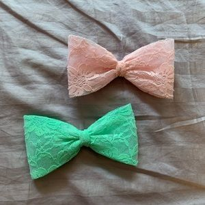 Lace bow hair clip combo🎀